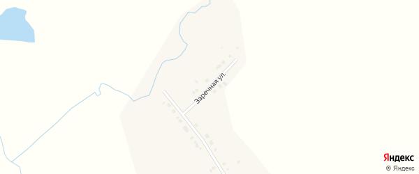 Заречная улица на карте села Ямашей Татарстана с номерами домов