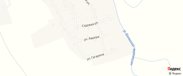 Улица Аврора на карте деревни Старое Афонькино Самарской области с номерами домов