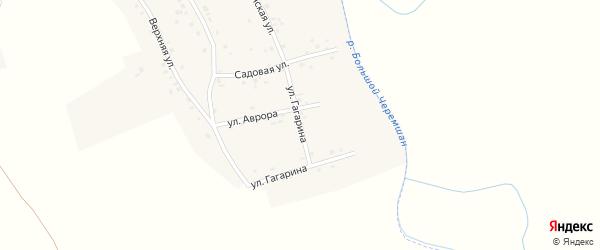 Улица Гагарина на карте деревни Старое Афонькино Самарской области с номерами домов