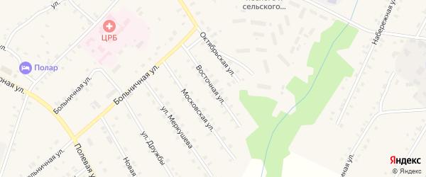 Восточная улица на карте села Сюмси Удмуртии с номерами домов