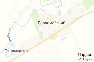Карта пос. Первомайский Оренбургская область
