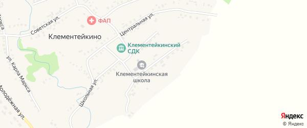 Улица Р.Шайхулова на карте села Клементейкино Татарстана с номерами домов