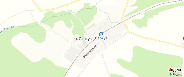Карта станции Саркуз в Удмуртии с улицами и номерами домов