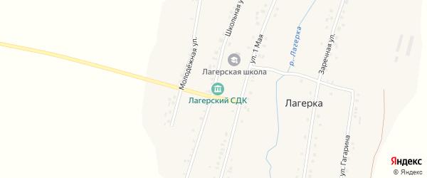 Школьная улица на карте села Лагерки Татарстана с номерами домов