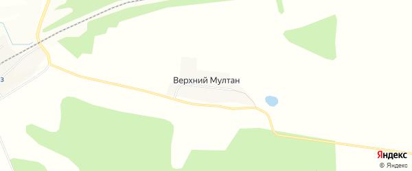 Карта деревни Верхнего Мултана в Удмуртии с улицами и номерами домов