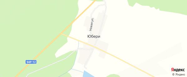 Карта деревни Юбери в Удмуртии с улицами и номерами домов