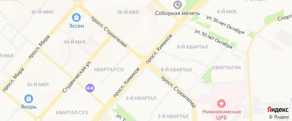 Карта деревни Дмитриевки города Нижнекамска в Татарстане с улицами и номерами домов