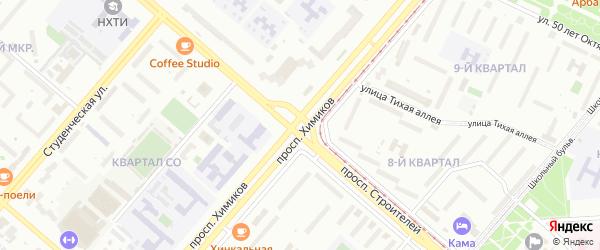 Территория ГСК N 25 на карте Нижнекамска с номерами домов