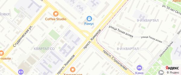 Территория ГСК Клаксон на карте Нижнекамска с номерами домов