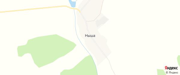 Карта деревни Ныши в Удмуртии с улицами и номерами домов