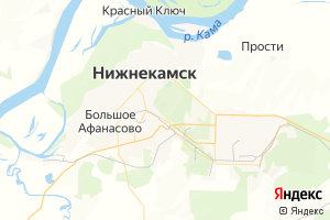 Карта г. Нижнекамск