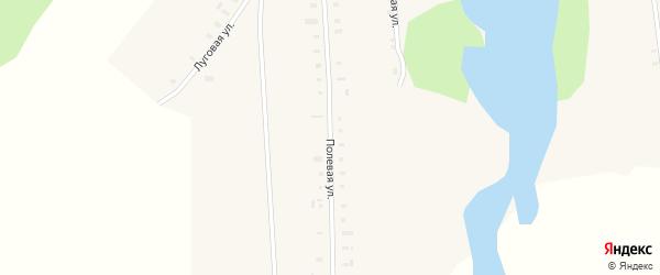 Полевая улица на карте села Халды Удмуртии с номерами домов