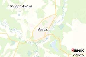 Карта с. Вавож Удмуртская Республика