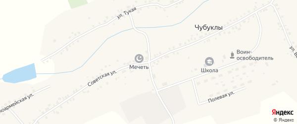 Советская улица на карте села Чубуклы Татарстана с номерами домов