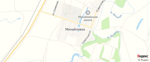Карта села Михайловки в Оренбургской области с улицами и номерами домов