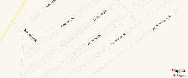 Улица Ф.Валеева на карте Заинска с номерами домов