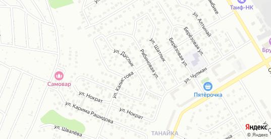 Улица Калистова в Елабуге с номерами домов на карте. Спутник и схема онлайн