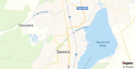 Карта Заинска с улицами и домами подробная. Показать со спутника номера домов онлайн