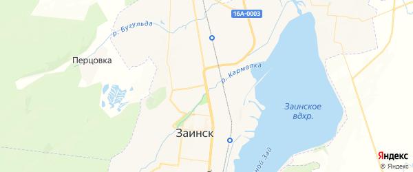 Карта Заинска с районами, улицами и номерами домов