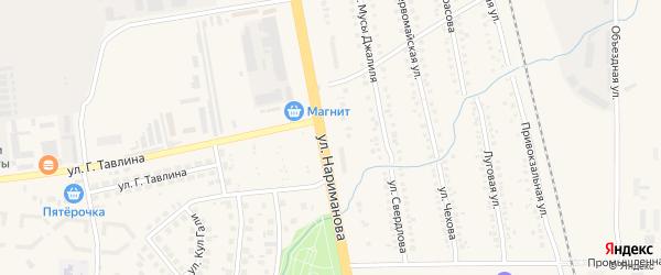 Территория С/О Автомобилист на карте Заинска с номерами домов