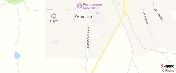Октябрьская улица на карте деревни Котловки Удмуртии с номерами домов