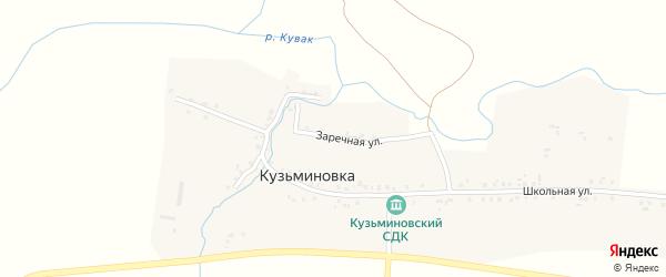 Заречная улица на карте села Кузьминовки Татарстана с номерами домов