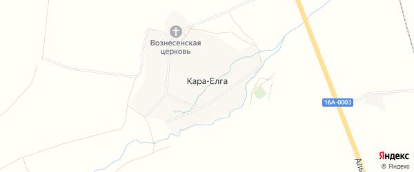 Карта села Кары-Елги в Татарстане с улицами и номерами домов