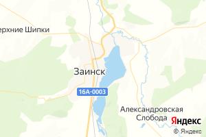 Карта г. Заинск