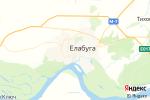 Карта г. Елабуга Республика Татарстан
