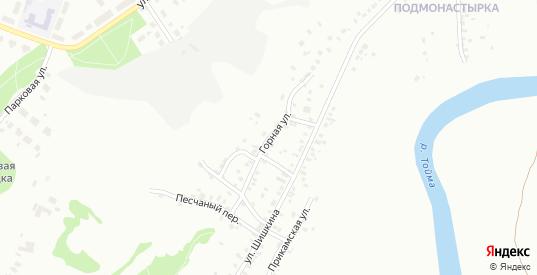 Горная улица в Елабуге с номерами домов на карте. Спутник и схема онлайн