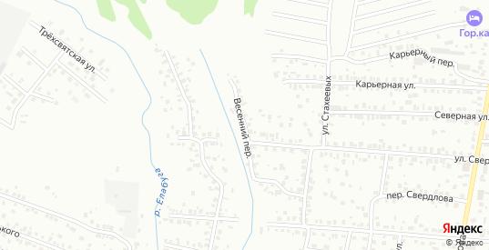 Весенний переулок в Елабуге с номерами домов на карте. Спутник и схема онлайн