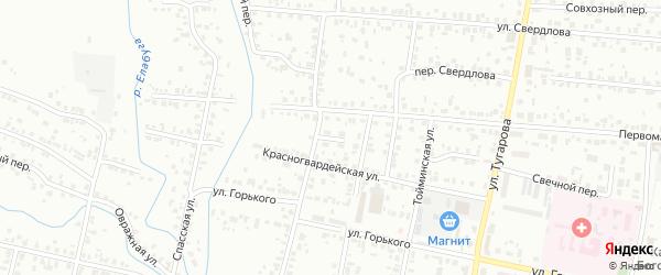 Переулок 8 Марта на карте Елабуги с номерами домов