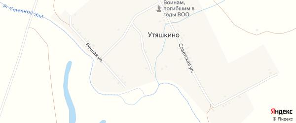 Улица Фрунзе на карте деревни Утяшкино Татарстана с номерами домов