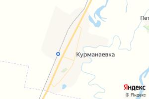 Карта с. Курманаевка Оренбургская область
