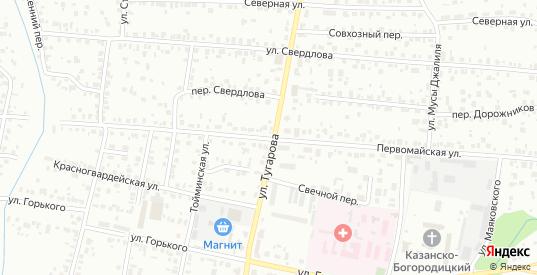 Первомайская улица в Елабуге с номерами домов на карте. Спутник и схема онлайн