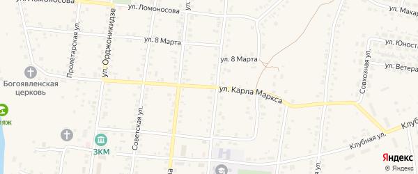 Улица Карла Маркса на карте Заинска с номерами домов