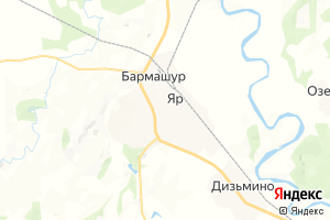 Карта пос. Яр Удмуртская Республика