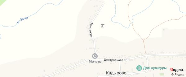 Речная улица на карте села Кадырово Татарстана с номерами домов