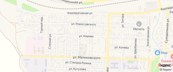 Улица Кирова на карте Похвистнево с номерами домов