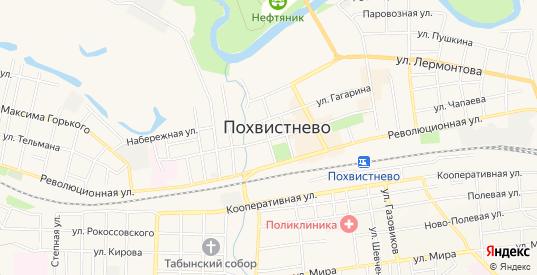 СТ СДТ Транспортник на карте Похвистнево с номерами домов