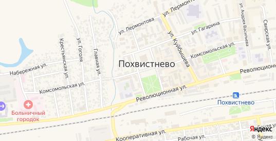 Приовражная улица в Похвистнево с номерами домов на карте. Спутник и схема онлайн