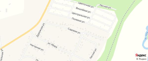 Садовая улица на карте села Увы-Тукли Удмуртии с номерами домов