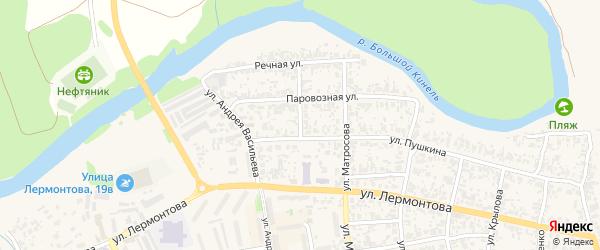 Улица Губкина на карте Похвистнево с номерами домов