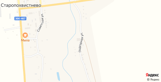 Подгорная улица в Похвистнево с номерами домов на карте. Спутник и схема онлайн