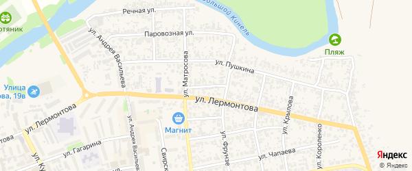 Улица 2-я Лермонтова на карте Похвистнево с номерами домов