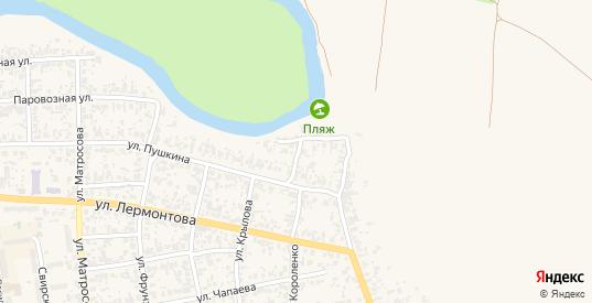 Прибрежная улица в Похвистнево с номерами домов на карте. Спутник и схема онлайн