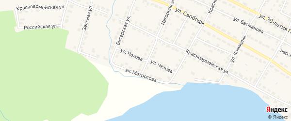 Улица Чехова на карте Омутнинска с номерами домов