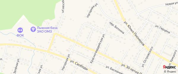 Чайкиной переулок на карте Омутнинска с номерами домов