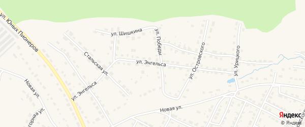 Улица Энгельса на карте Омутнинска с номерами домов