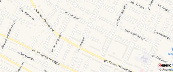 Переулок Лермонтова на карте Омутнинска с номерами домов
